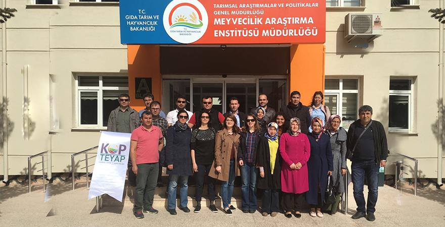 KOP TEYAP kapsamında 'Ilıman İklim Meyve Yetiştiriciliği Eğitimi' gerçekleştirildi.