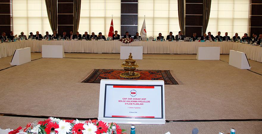 GAP, DAP, KOP, DOKAP Eylem Planları 1. İzleme Toplantısı Yapıldı
