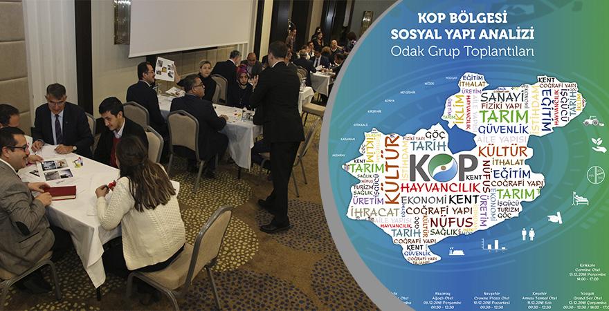 KOP Bölgesinde Sosyal Yapı Analizi Projesi Odak Grup Toplantıları Başladı