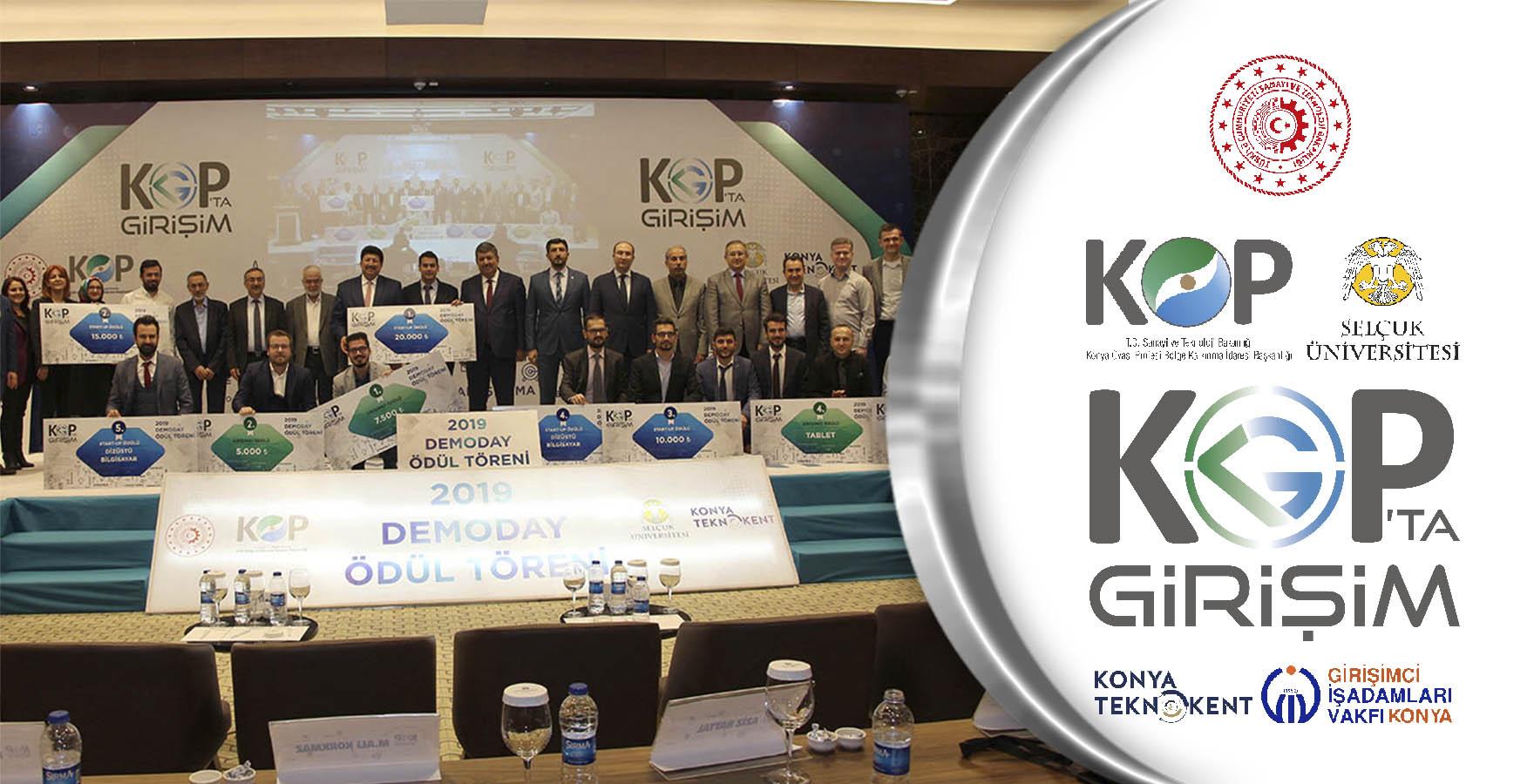 KOP'ta Girişim Projesinde Ödüller Sahiplerini Buldu