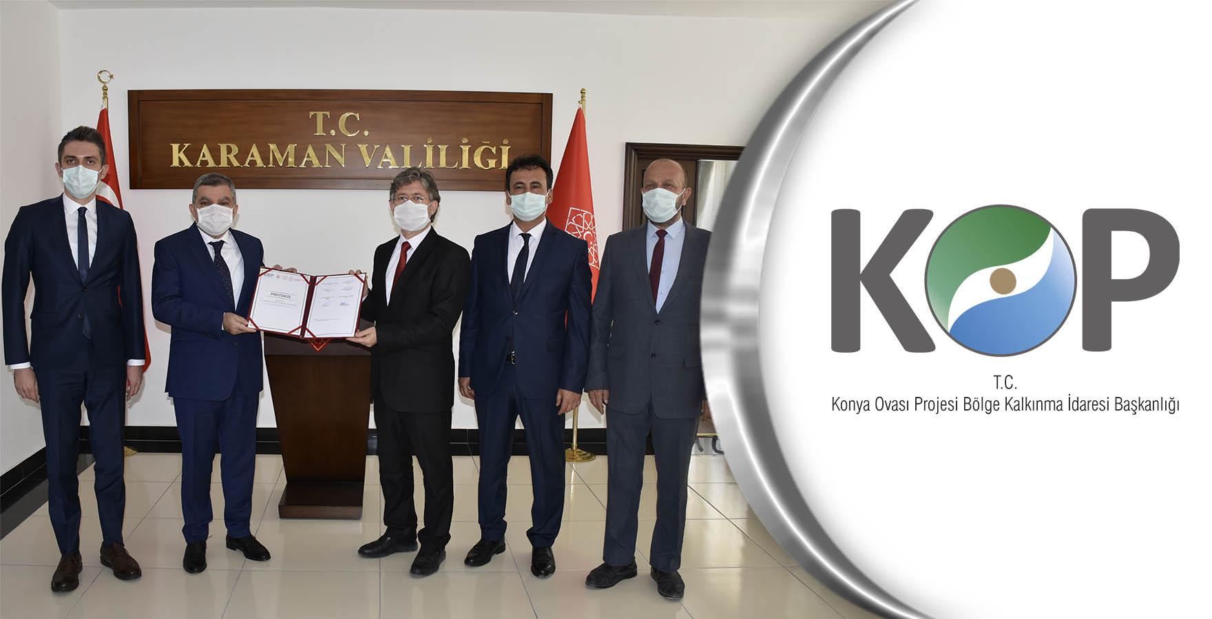 Karaman'ın KOP Destekli Projeleri için İmzalar Atıldı
